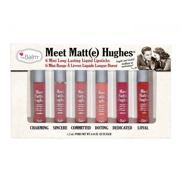 The Balm Meet Matte Hughes Vol. 1 6 Mini Long Lasting Liquid Lipsticks