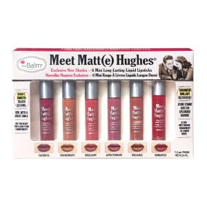 The Balm Meet Matte Hughes Vol. 2 ( 6 Mini Long Lasting Liquid Lipsticks )
