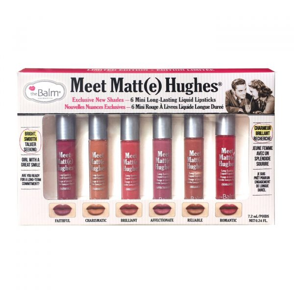 The Balm Meet Matte Hughes Vol. 3 ( 6 Mini Long Lasting Liquid Lipsticks )